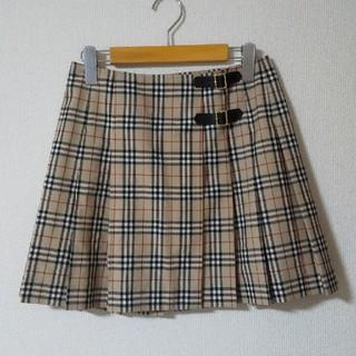 バーバリー(BURBERRY)のBurberrys チェックの薄地ウール100のミニスカート(ミニスカート)