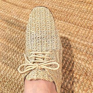 エディットフォールル(EDIT.FOR LULU)のほぼ新品☆ イタリア製 アイボリー 紐靴 5cmヒール ♪(ハイヒール/パンプス)