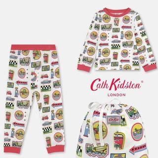 キャスキッドソン(Cath Kidston)のCath Kidston キャスキッドソン パジャマセット 巾着つき 3-4才(パジャマ)