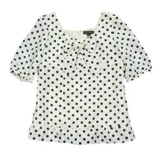 クレイサス(CLATHAS)のCLATHAS ドット柄 プルオーバーブラウス 38(Tシャツ(半袖/袖なし))