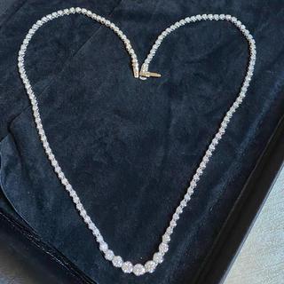 デビアス(DE BEERS)のフルエタニティ テニスネッスレス 天然 ダイヤモンド 本物 5ct(ネックレス)