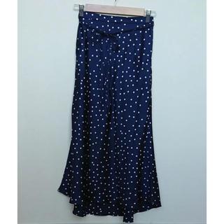 ミラオーウェン(Mila Owen)のミラオーウェン ドットサテンロングスカート(ロングスカート)