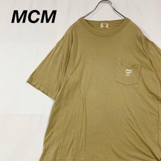 エムシーエム(MCM)のMCM Tシャツ ポケットTシャツ モスグリーン アースカラー(Tシャツ/カットソー(半袖/袖なし))