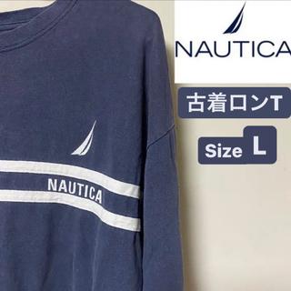 ノーティカ(NAUTICA)の即日発送 ノーティカ Nautica ロンT ネイビー  紺 100%コットン(Tシャツ/カットソー(七分/長袖))