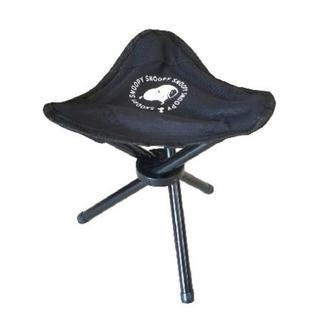 スヌーピー(SNOOPY)の【今日まで】スヌーピー 三脚 チェア 椅子 ブラック アウトドア ①(テーブル/チェア)