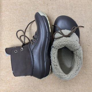 クロックス(crocs)の正規店購入 1回着用   crocs ボアブーツ  W6 (22cm)(レインブーツ/長靴)