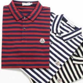 モンクレール(MONCLER)の最終価格!MONCLERボーダーポロシャツ(ポロシャツ)