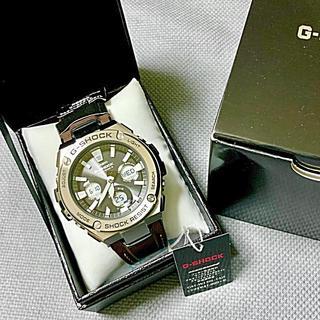 ジーショック(G-SHOCK)の美品 G-SHOCK G-STEEL 電波ソーラー GST-W130L-1AJF(腕時計(デジタル))