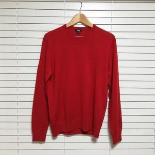 ユニクロ(UNIQLO)のUNIQLO セーター 赤(ニット/セーター)