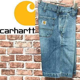カーハート(carhartt)の【激レア】カーハート ワンポイントロゴ デニムショートパンツハーフパンツ(ショートパンツ)