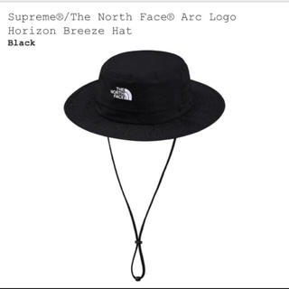 シュプリーム(Supreme)の2019ss 黒 s/m supreme north face arc hat(ハット)