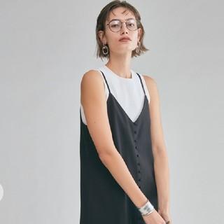 ミラオーウェン(Mila Owen)の新品タグ付 アメスリリブニットタンクトップ ホワイト 0 Mila Owen(タンクトップ)