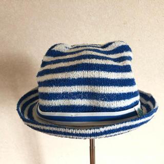 キッズズー(kid's zoo)のkids zoo ボーダーマリン帽子 44センチ(帽子)