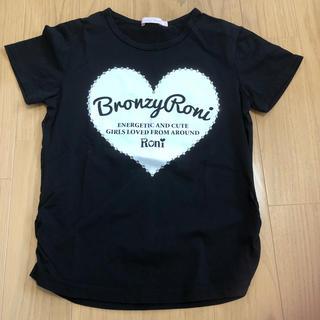 ロニィ(RONI)のRONI  黒Tシャツ145(Tシャツ/カットソー)