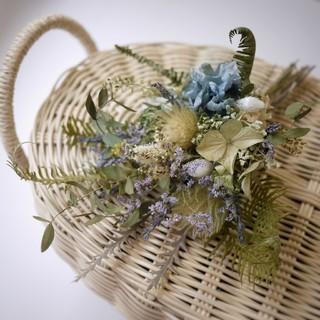 三種の紫陽花のブーケ(ドライフラワー)