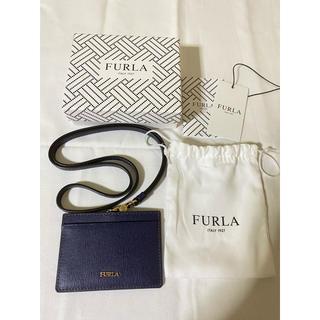 フルラ(Furla)のだいず様 FURLA フルラ カードケース ネイビー(パスケース/IDカードホルダー)