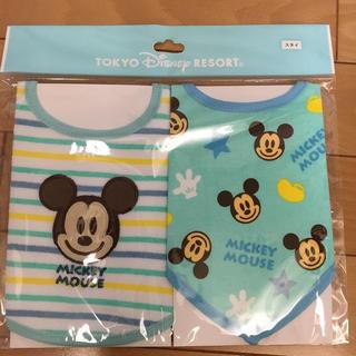 ミッキーマウス(ミッキーマウス)のディズニー スタイ 二枚組!(ベビースタイ/よだれかけ)