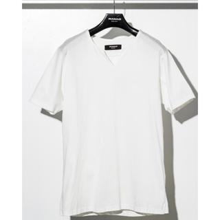 ウノピゥウノウグァーレトレ(1piu1uguale3)の1PIU1UGUALE3 RELAXシルケットスキッパーTシャツ(Tシャツ/カットソー(半袖/袖なし))
