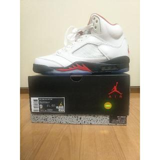 NIKE AIR JORDAN 5 FIRE RED 27cm(スニーカー)