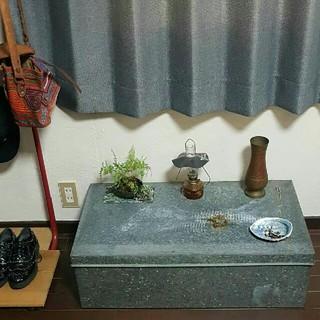 アクタス(ACTUS)の昭和インダストリアルヴィンテージ トタン収納箱 神戸市引き取り(ケース/ボックス)