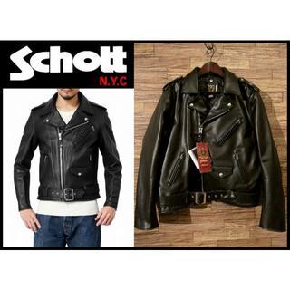 ショット(schott)の新品 Schott ショット ワンスター レザー ライダース ジャケット 42(ライダースジャケット)