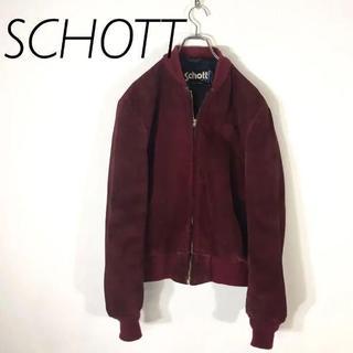 ショット(schott)の貴重カラー ショット SCHOTT MA-1 スウェード レザージャケット(ブルゾン)