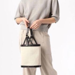 スピックアンドスパン(Spick and Span)のオルセット コットンリネンハンドバッグ  バケツ型(ハンドバッグ)