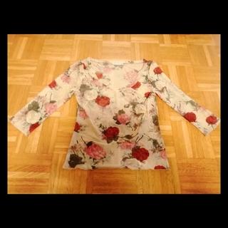 アンナモリナーリ(ANNA MOLINARI)の ANNA MOLINARI 薔薇模様のカットソー(カットソー(長袖/七分))