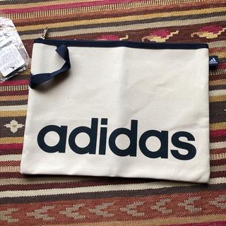 アディダス(adidas)の新品 アディダス adidas クラッチバッグ 書類ケース キャンバス地(セカンドバッグ/クラッチバッグ)
