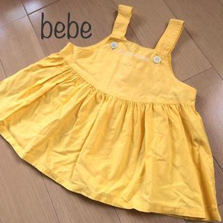ベベ(BeBe)のbebeふんわりワンピース80㎝(ワンピース)