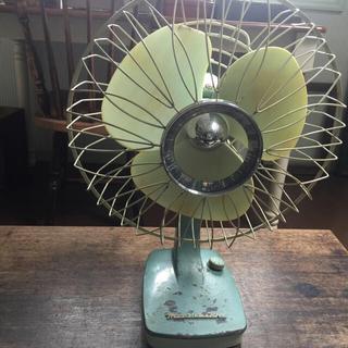 ミツビシ(三菱)のMITSUBISHI アンティークグリーンの扇風機(扇風機)