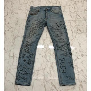 グッチ(Gucci)のgucci 17ss printed chlorine punk jeans(デニム/ジーンズ)