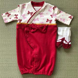 ベルメゾン(ベルメゾン)の袴風ツーウェイオール&フェイク草履靴下(和服/着物)