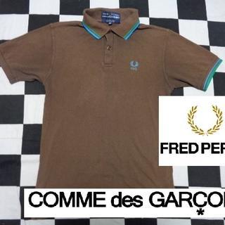 コムデギャルソン(COMME des GARCONS)の【コムデギャルソンxフレッドペリー】半袖鹿の子ポロシャツXSポルトガル製(ポロシャツ)