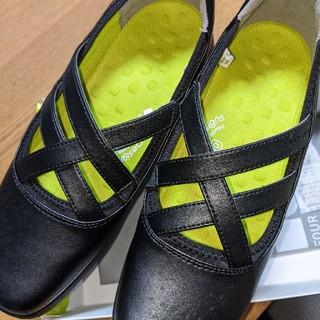 アキレス(Achilles)の靴 フラットシューズ 黒 25 CM 新品(ハイヒール/パンプス)