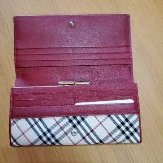 バーバリー(BURBERRY)の未使用 バーバリー Burberry 長財布 財布 ボルドー がま口(長財布)