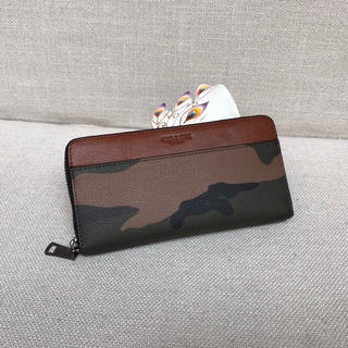 COACH長財布 コーチ財布 75099 カモフラ迷彩 アウトレット品(長財布)