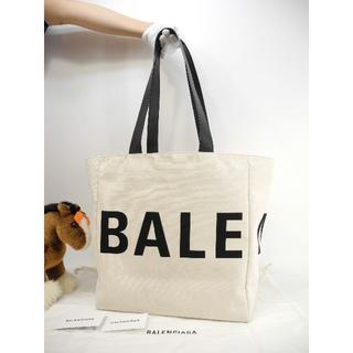 バレンシアガ(Balenciaga)のバレンシアガ トートバッグ ビッグロゴ デニム白黒 ショルダーバッグ 美品@ 1(トートバッグ)