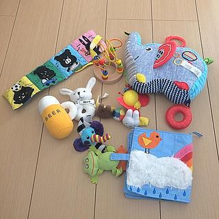 サッシー(Sassy)のベビー玩具 ガラガラ・布絵本・ルーピング・Sassyなど7点セット(知育玩具)