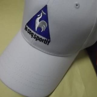 ルコックスポルティフ(le coq sportif)の新品 le coq sportif キャップ・帽子 大人用のフリーサイズ 白(キャップ)