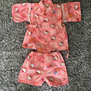 サンリオ(サンリオ)のサンリオ ハローキティ 甚平 80サイズ ピンク 女の子(甚平/浴衣)