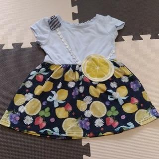 エニィファム(anyFAM)のレモンのワンピース 80 anyfam(ワンピース)