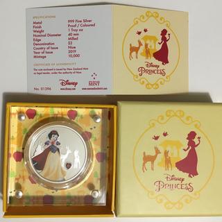 ディズニー(Disney)の白雪姫 1オンス銀貨 ジェムストーン付き 2019年ニウエ発行 ディズニーコイン(貨幣)