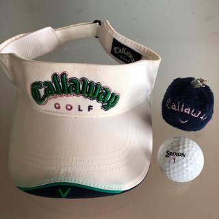 キャロウェイゴルフ(Callaway Golf)のキャロウェイゴルフ サンバイザー ボールカバー(サンバイザー)