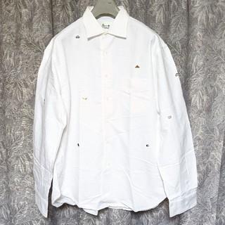 ピンクハウス(PINK HOUSE)のpapasパパス 刺繍入長袖シャツ(シャツ)