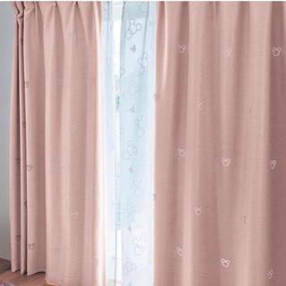 ベルメゾン(ベルメゾン)のikappeさん専用 ミッキー遮熱カーテン(光でモチーフが浮かび上がる)(カーテン)