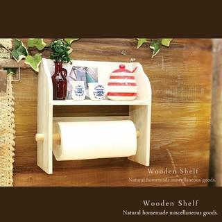 ハンドメイド  アンティーク加工  キッチン シェルフ  木製 棚 ホワイト(家具)