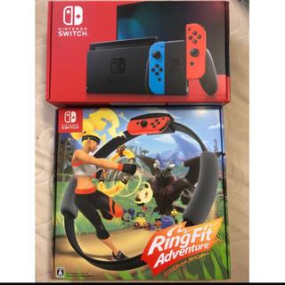 ニンテンドースイッチ(Nintendo Switch)のSwitch ネオン リングフィットアドベンチャー セット(家庭用ゲーム機本体)