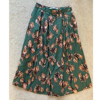 アングローバルショップ(ANGLOBAL SHOP)の花柄フレアスカート(ひざ丈スカート)