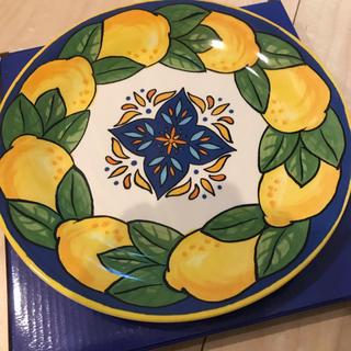 カルディ(KALDI)のカルディ レモンバッグ レモン柄 お皿 KALDI  陶器皿(食器)